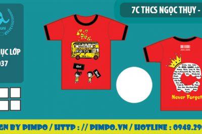 áo đồng phục lớp 7c trường THCS Ngọc Thụy Hà Nội