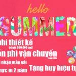 khuyến mãi làm áo đồng phục hello summer