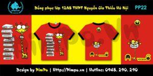 Áo đồng phục 12A8 THPT Nguyễn Gia THiều Hà Nội