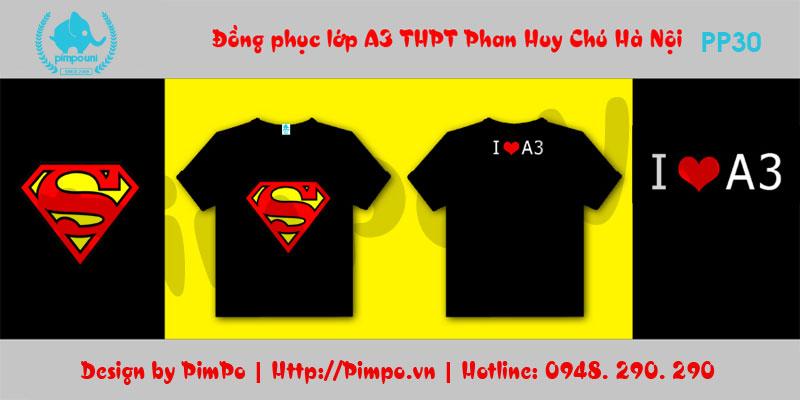 Áo đồng phục lớp A3 THPT Phan Huy Chú Hà Nội