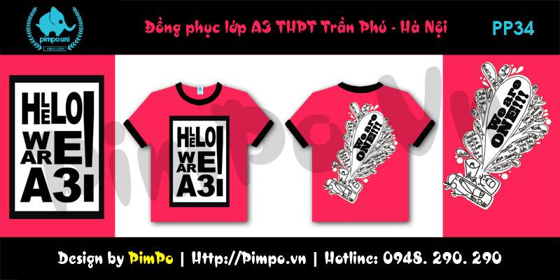 Áo đồng phục lớp A3 THPT Trần Phú Hà Nội