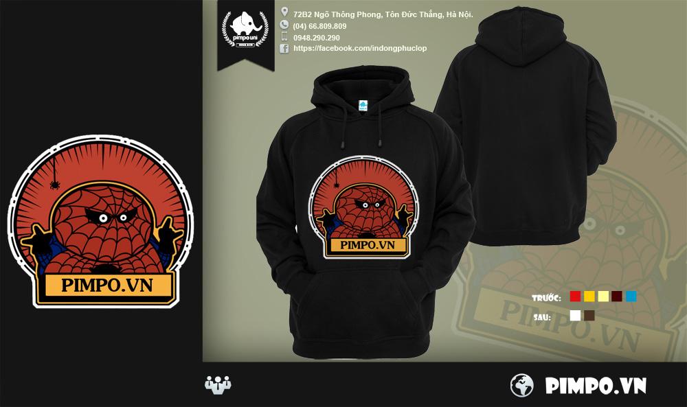 Áo khoác đồng phục Spider man Pimpo016