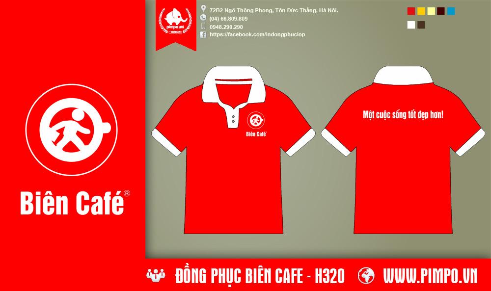 Áo đồng phục cafe Biên