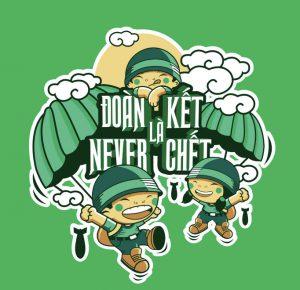 áo đồng phục đoàn kết và never chết