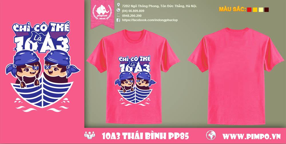 Áo đồng phục 10A3 Thái Bình