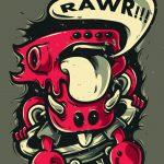 Hình in áo đồng phục quái vật 08