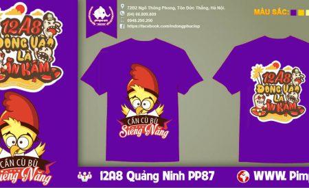 Áo đồng phục 12A8 Quảng Ninh
