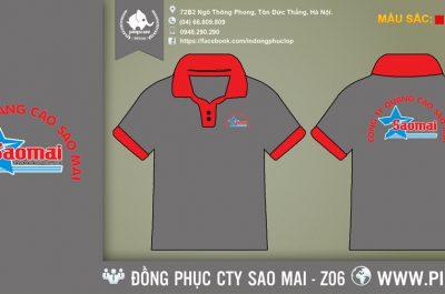 Áo đồng phục công ty Sao Mai
