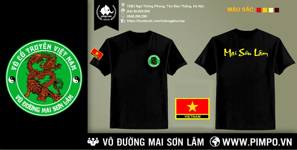 Áo đồng phục võ đường MAI SƠN LÂM Z42