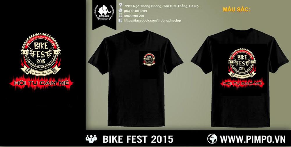 Áo đồng phục hội xe bike fest 2015
