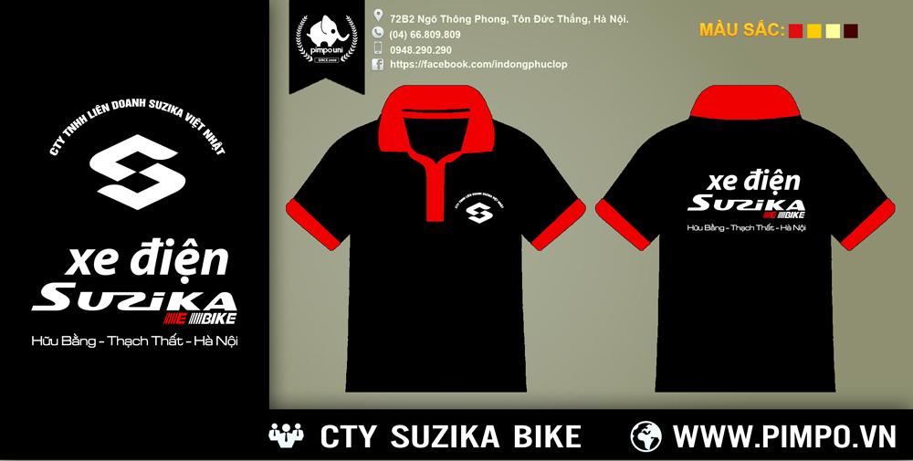 Áo đồng phục xe đạp điện suzika