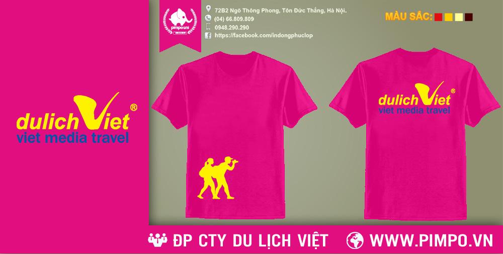 Áo đồng phục công ty du lịch Việt