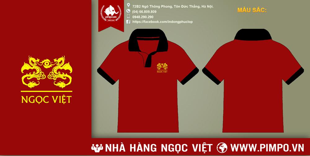 Áo đồng phục nhà hàng Ngọc Việt