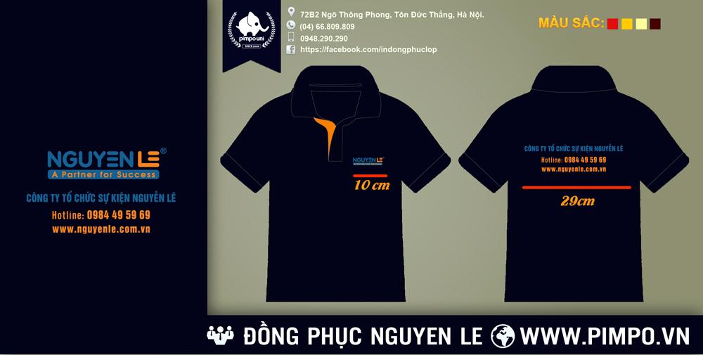 Áo đồng phục công ty truyền thông sự kiện Nguyễn Lê