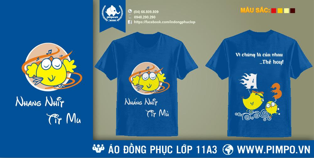 Áo đồng phục lớp 11A3 THPT Phan Huy Chú