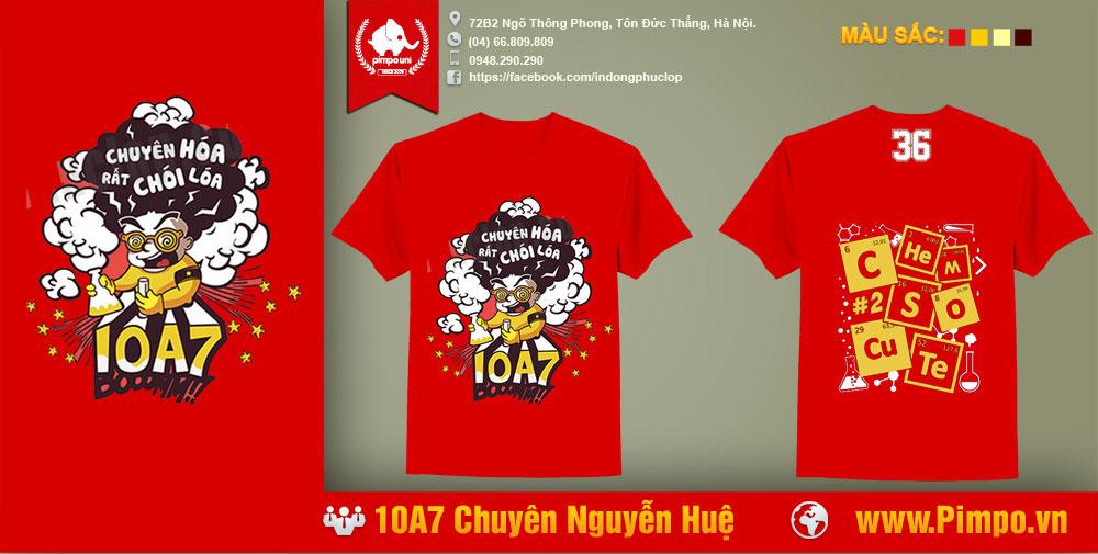 Áo đồng phục 10A7 Chuyên Nguyễn Huệ