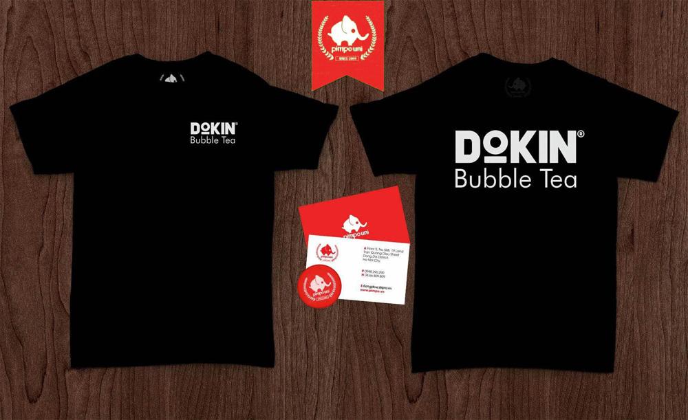 Áo đồng phục Dokin coffee