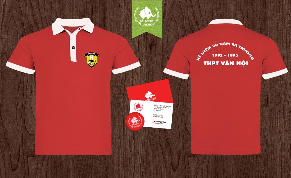 Áo đồng phục kỷ niệm 20 năm ngày ra trường THPT Vân Nội