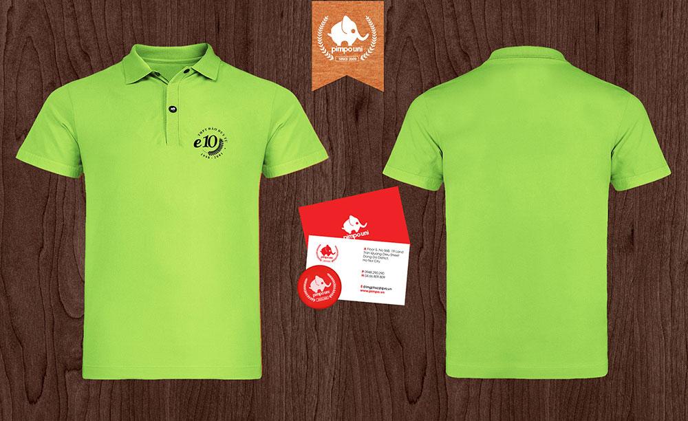 áo đồng phục kỷ niệm ngày ra trường lớp E10 THPT Đào Duy Từ 1998 - 2001