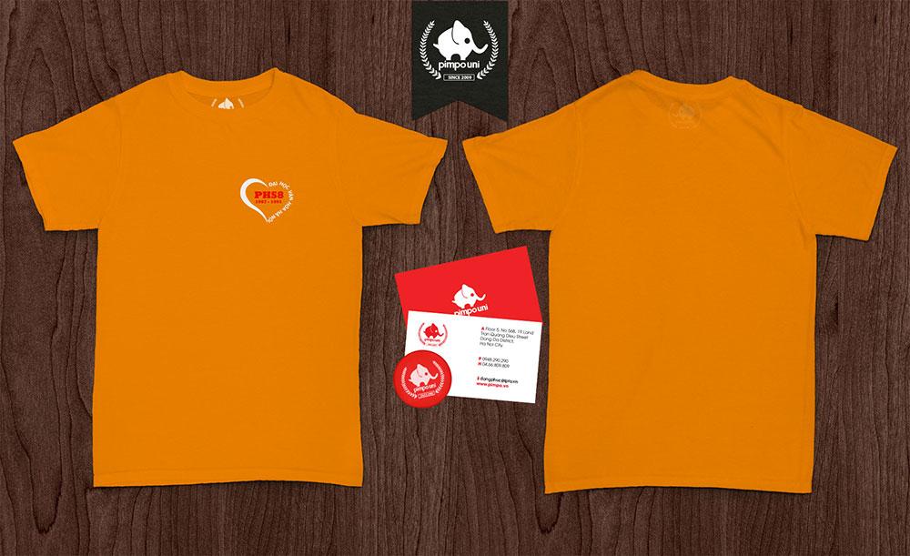 Áo đồng phục kỷ niệm ngày ra trường lớp PHS8 Đại học văn hóa Hà Nội