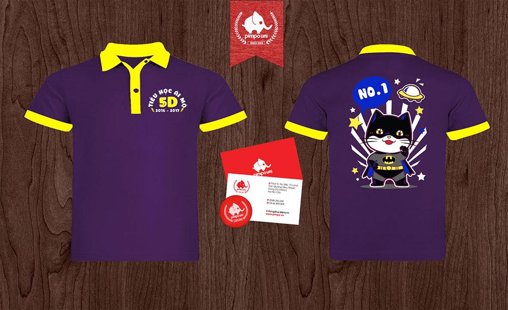 Áo đồng phục 5D tiểu học Ái Mộ