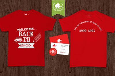 Áo đồng phục kỉ niệm ra trường K28 đại học tài chính kế toán Hà Nội
