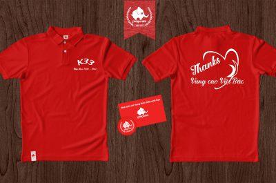 Áo đồng phục kỉ niệm ra trường K33 Việt Bắc
