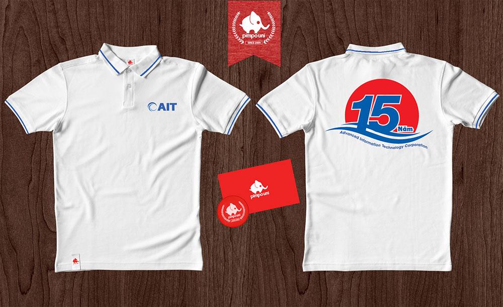 Áo đồng phục kỉ niệm 15 năm thành lập công ty