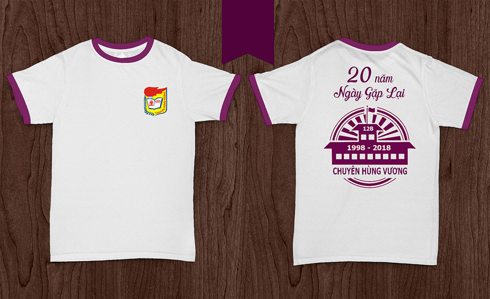 Áo kỉ niệm 20 năm ngày ra trường Chuyên Hùng Vương