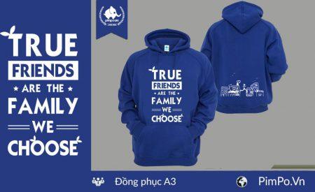 Áo nỉ hoodie đồng phục lớp A3