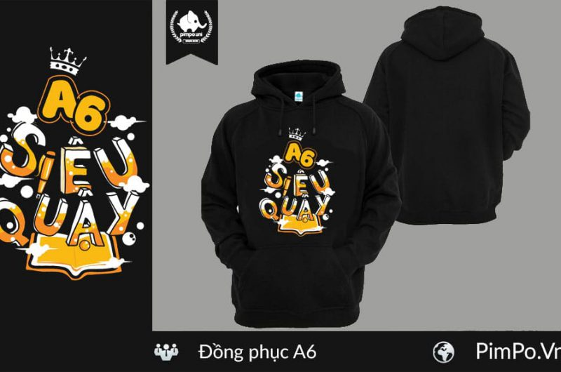 Áo nỉ hoodie đồng phục lớp A6