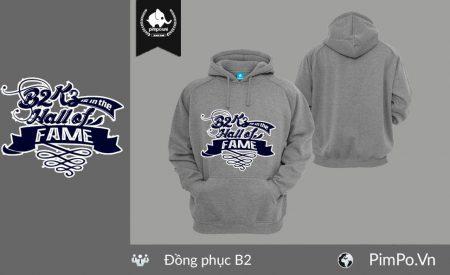 Áo nỉ hoodie đồng phục lớp B2