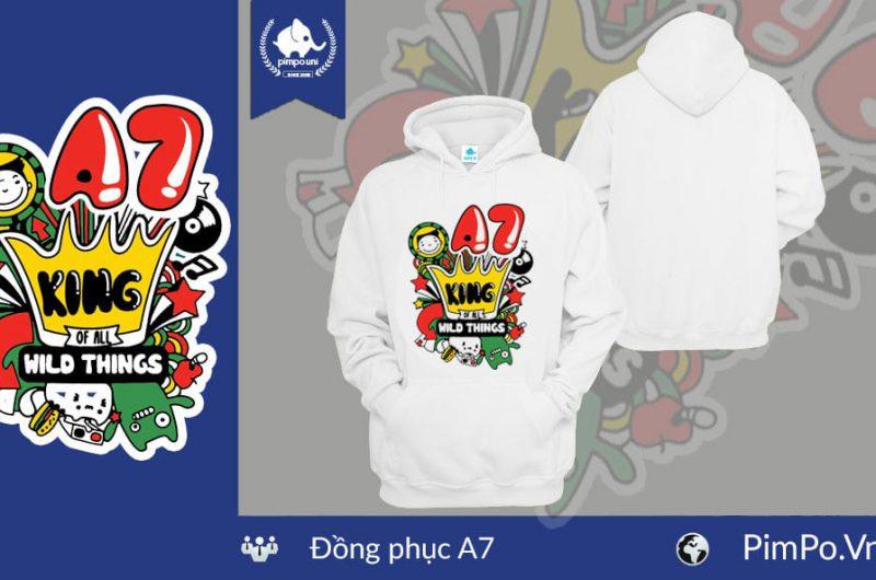 Áo nỉ hoodie đồng phục lớp A7