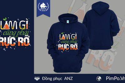 Áo nỉ hoodie đồng phục công ty ANZ