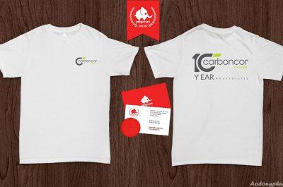 Áo đồng phục kỉ niệm 10 năm thành lập công ty Carbonco