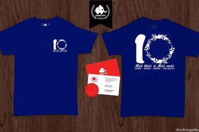 Áo đồng phục kỉ niệm 10 năm ra trường 12A2 Yên Lạc