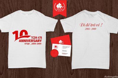Áo đồng phục kỉ niệm ra trường Kinh tế quốc dân TCDN 47B