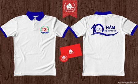 Áo đồng phục kỉ niệm 10 năm ra trường 12A2 Hùng Vương