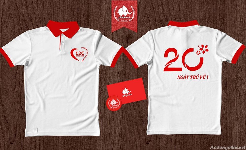 Áo đồng phục kỉ niệm 20 năm ra trường lớp 12C Kim Xuyên