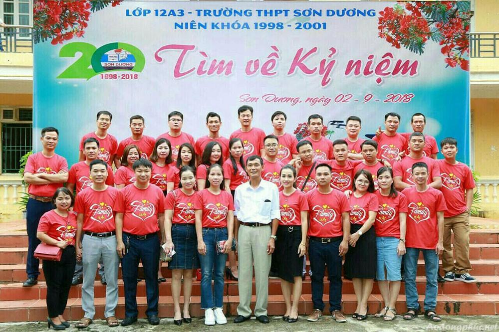 Áo đồng phục kỉ niệm ra trường Sơn Dương