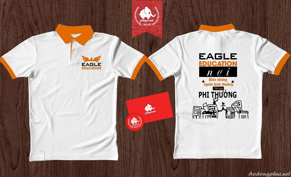 Áo đồng phục trung tâm tiếng anh Eagle